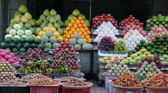 a fresh food market has a certain vibrancy