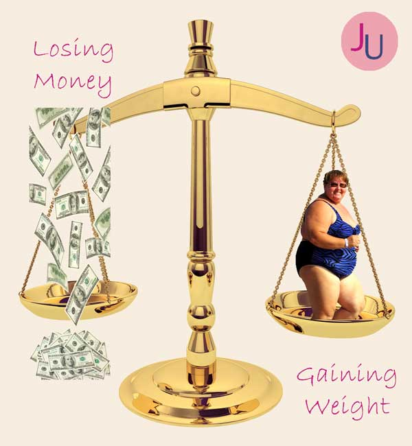 losing money and gaining weight correlation