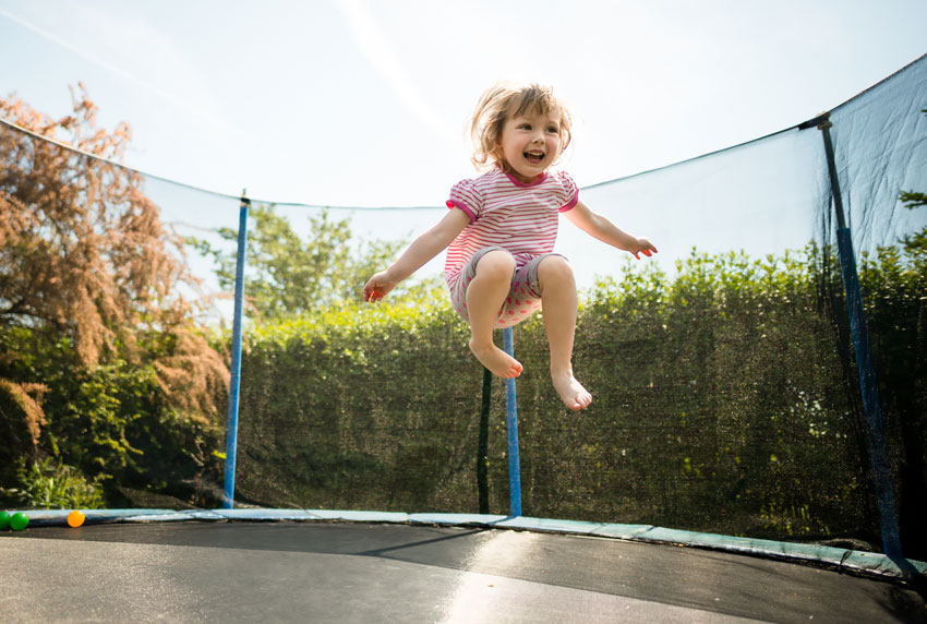 kid on a trampoline springing into life